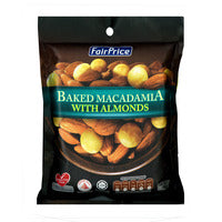FairPrice Baked Macadamia with Almonds 150G | Beans Seeds Nuts | Office Pantry Supplies
