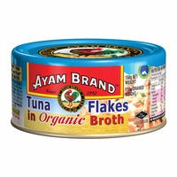 Ayam Brand Tuna Flakes - Organic Broth 150G | Canned | Office Pantry Supplies