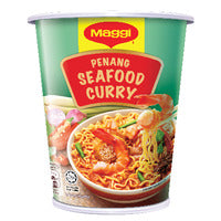 Maggi Instant Flavours of Asia Cup Noodles - Penang Seafood Curry 76G | Instant Cups | Office Pantry Supplies