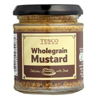 Tesco Wholegrain Mustard 180G | Dressings and Toppings | Office Pantry Supplies