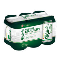 Carlsberg Can Beer - Smooth Draught  6 x 320ML | Beer | Office Pantry Supplies
