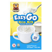 Captain Oats Eazy-Go Instant Oatmeal - Skim Milk 5 x 32G | Oats | Office Pantry Supplies