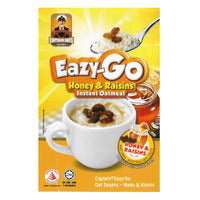 Captain Oats Eazy-Go Instant Oatmeal - Honey & Raisins 5 x 33G | Oats | Office Pantry Supplies