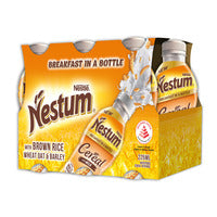 Nestle Nestum Cereal Milk Bottle Drink - Wheats & Grains 6 x 225ML | Chocolate and Malt | Office Pantry Supplies