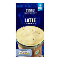 Tesco Cafe Style Instant Coffee - Latte - 8 x 19.5g | Instant Coffee | Office Pantry Supplies