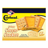 Cowhead Crispy Crackers - Cheese 8 x 26G | Biscuits and Crackers | Office Pantry Supplies