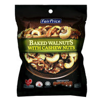 FairPrice Baked Walnuts with Cashews Nuts 150G | Beans Seeds Nuts | Office Pantry Supplies