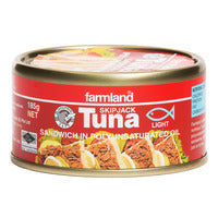 Farmland Skipjack Tuna - Sandwich in Polyunsaturated Oil 185G | Canned | Office Pantry Supplies