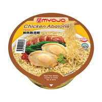 Myojo Instant Bowl Noodles - Chicken Abalone 80G | Instant Cups | Office Pantry Supplies