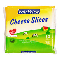 FairPrice Cheese Slices 12 x 250G | Cheese | Office Pantry Supplies