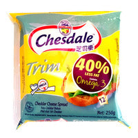 Chesdale Cheddar Cheese Slices - Trim 250G (12S) | Spreads | Office Pantry Supplies