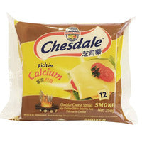 Chesdale Cheddar Cheese Slices - Smoked 250G (12S) | Spreads | Office Pantry Supplies