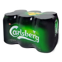Carlsberg Can Beer - Green Label 6 x 323ML | Beer | Office Pantry Supplies