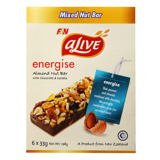 a Alive Almond Nuts Bar 10 x 6'S x 33 g for 48.73