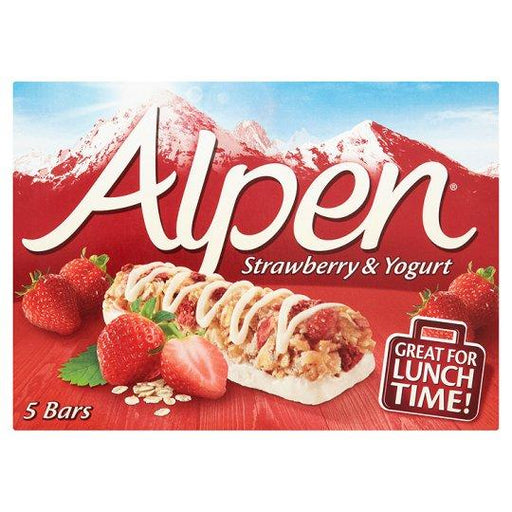 a Alpen Bar Strawberry & Yoghurt 10 x 5 x 29 g for 66.67