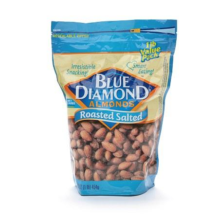 a Blue Diamond Roasted Salted Almond 12 x 130 g for 76.48