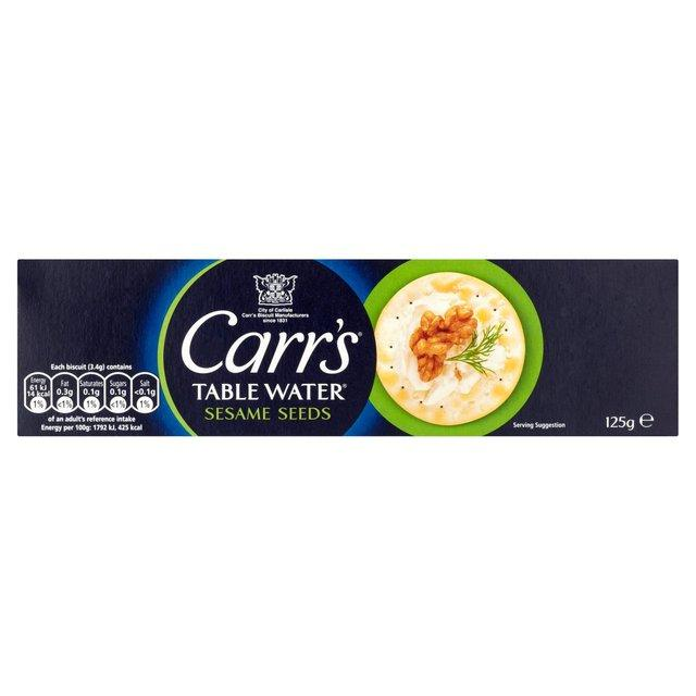 a Carr'S Tablewater Sesame 12 x 125 g for 35.04