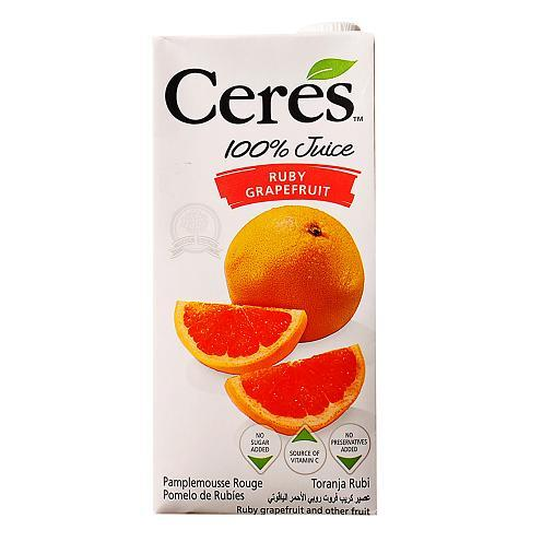 a Ceres Fruit Juice - Ruby Grapefruiit 12 x 1LTR for 32