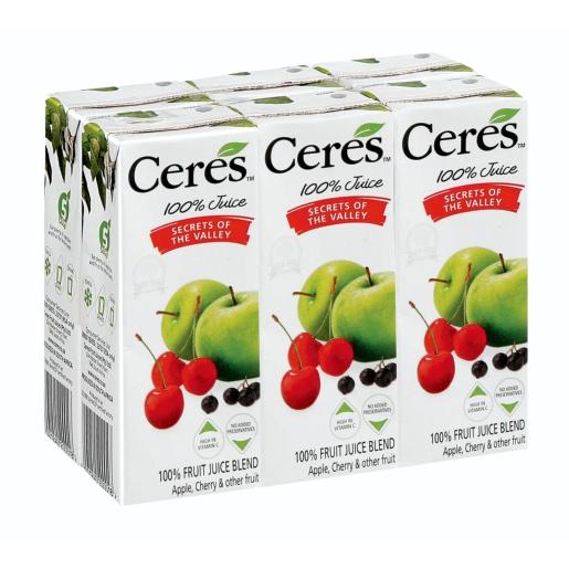 a Ceres Fruit Juice - Secrets Of The Valley 4 x 6'S x 200ML for 16.8