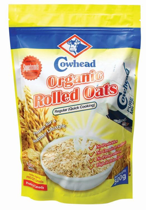a Cowhead Rolled Oats Regular 24 x 500 g for 64
