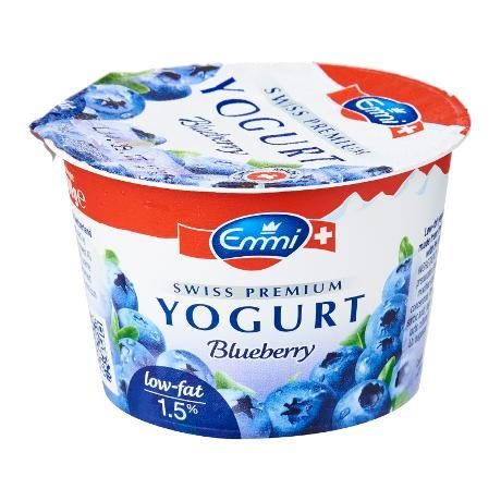a Emmi Blueberry Low Fat Yoghurt 20 x 100 g for 17.33