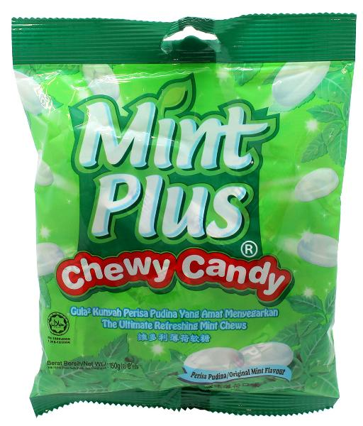 a Fruit Plus Chewy Candy - Mint 48 x 150 g for 48