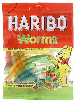 a Haribo Worms 24 x 80 g for 42.56