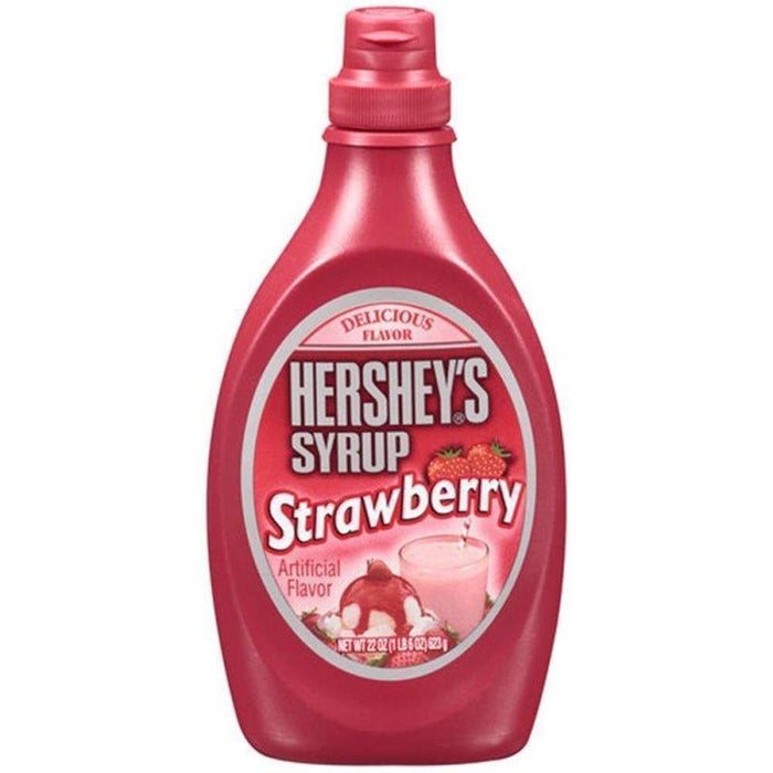 a Hershey Strawberry Syrup 12 x 22 oz (623 g) for 48