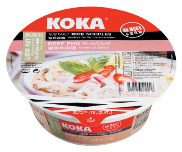 a Koka Bowl R/N No Msg Beef Pho 12 x 70 g for 18.24