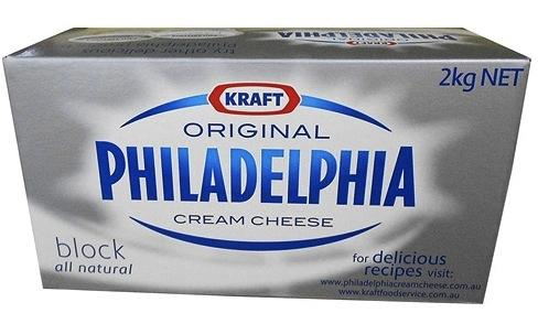 a Kraft Philly Cream Cheese Block 8 x 2 kg for 208