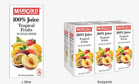 a Marigold 100% Fruit - Tropical Fruit Juice 4 x 6 x 250ML for 16
