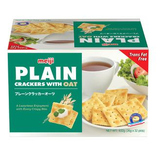 a Meiji Plain Cracker With Oat 32 x 26 g for 8.67