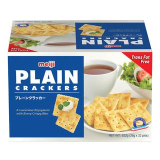 a Meiji Plain Cracker 32 x 26 g for 8.67