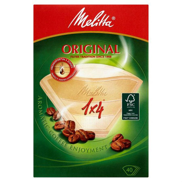 a Melitta Filter Paper 1X4 10 x 10 x 40'S for 220