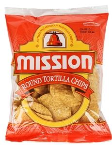 a Mission Yellow Round Corn Chips 6 x 500 g for 39.2