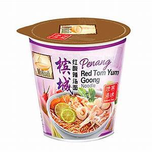 a Mykuali Red Tom Yum Goong Noodle 12 x 85 g for 19.2