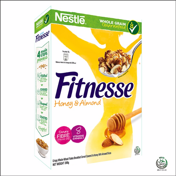 a Nestle Fitness Honey Almond Cereal 18 x 390 g for 130.08