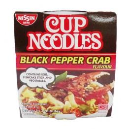 a Nissin Cup Noddles - Black Pepper Crab 24 x 81 g for 38
