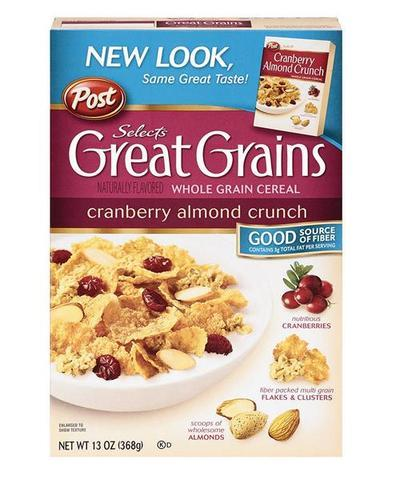 a Post Cranberry Almond Crunch 12 x 368 g for 86.56