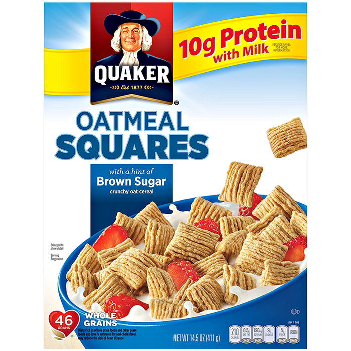 a Quaker Oatmeal Squares 12 x 411 g for 78.4