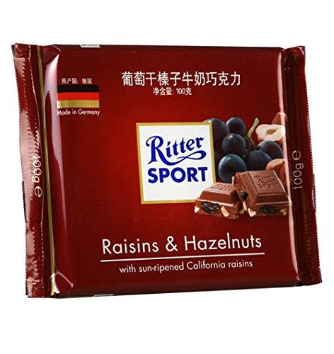 a Ritter Sport Raisin & Hazelnut 12 x 100 g for 38.48