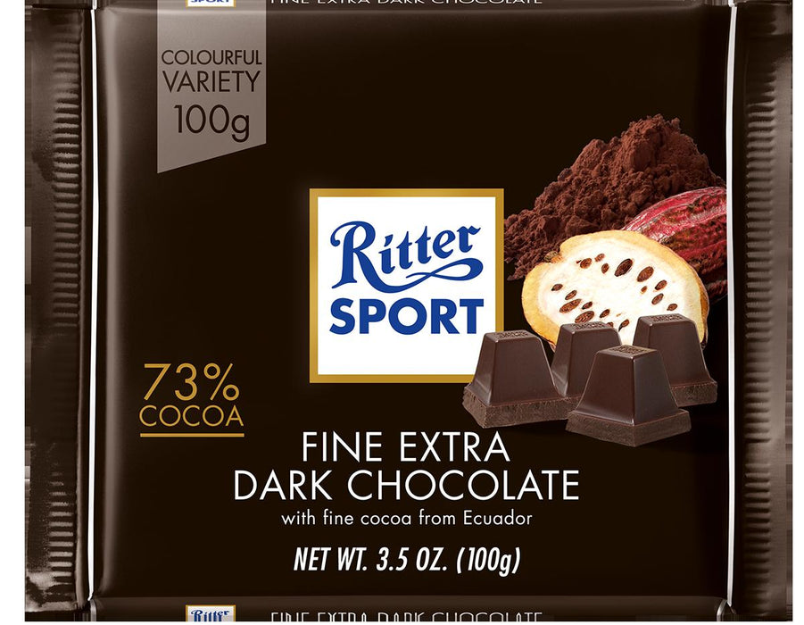 a Ritter Sport Dark Plain Chocolate 12 x 100 g for 35.2