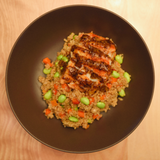 Honey Dijon Cod with Edamame & Quinoa Pilaf