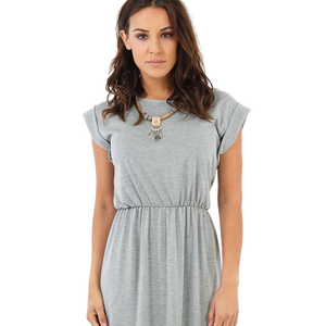 women gray dress