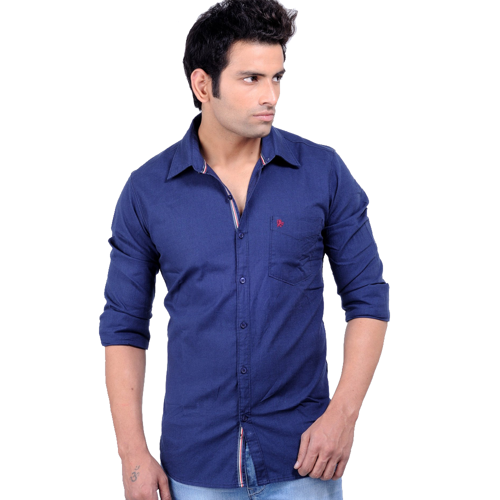 mens new dark blue shirt