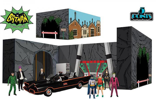 Mezco Batman (1966) 5 Points Deluxe Boxed Set