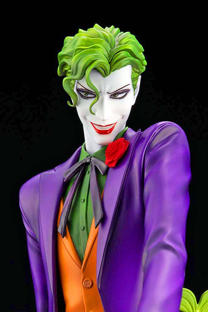 IKEMEN SERIES THE JOKER DC COMICS 1:7 SCALE STATUE close up face