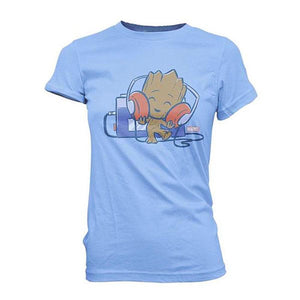 Guardians of the Galaxy Baby Groot with Tape Deck Juniors T-Shirt