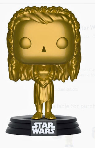 FUNKO POP! Star Wars: GOLD Princess Leia (Walmart Exclusive) Collectible Vinyl Figure