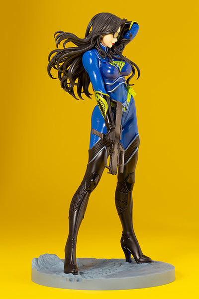 G.I.JOE BARONESS 25th ANNIVERSARY BLUE COLOR BISHOUJO STATUE RIGHT SIDE VIEW